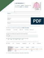 Ficha de Matemática de Treino Para o Teste