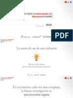 ANEIMO Datos Sector Investigación Mercados Del 2015
