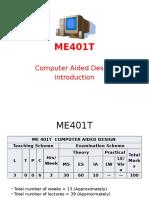 ME401T CAD Introduction