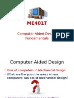 ME401T CAD Fundamentals - 1