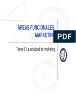 Tema 3. La Actividad de Marketing