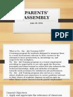 Parents' Assembly