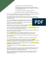 Exercise 1 PFR Provision