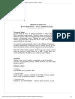 Manual de Instruções Banco Imobiliário e Banco Imobiliário Luxo Documento Eletrônico Criado e Revisado Em 01-04-2006