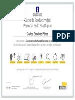 Certificado de Productividad Google Activate