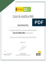 Certificado Analitica Web