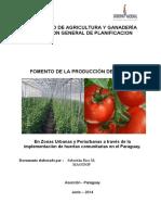Proyecto Produccion de Tomate 2014