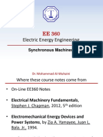 EE360- Synchronous Machines