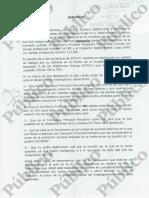 Denuncia de Eugenio Pino Contra Marcelino Martín-Blas y Eladio Rubén López