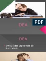 DEA Dificultades Especificas del Aprendizaje