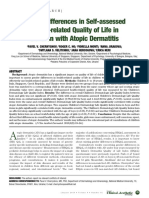 Gender Differences in Self-assessed Health-related Quality of Life in Children with Atopic Dermatitis