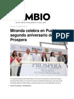 05.10.2016 Miranda Celebra en Puebla Segundo Aniversario de Prospera