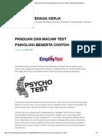 Panduan Dan Macam Test Psikologi Beserta Contoh _ Rekrutmen Tenaga Kerja