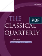 (The Classical Quarterly, Vol. 59, N° 1, 2009 59 1) The Classical Association. 59-Cambridge University Press (2009)