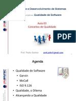 Unibratec - ADS - QSw - 03 - Conceitos de Qualidade