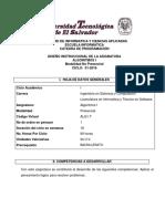 01- Diseño Instrucional - Algoritmos I