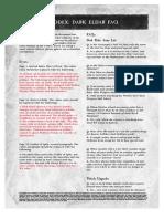 Warhammer 40k - FAQs & Errata - Dark Eldars FAQ(2008)