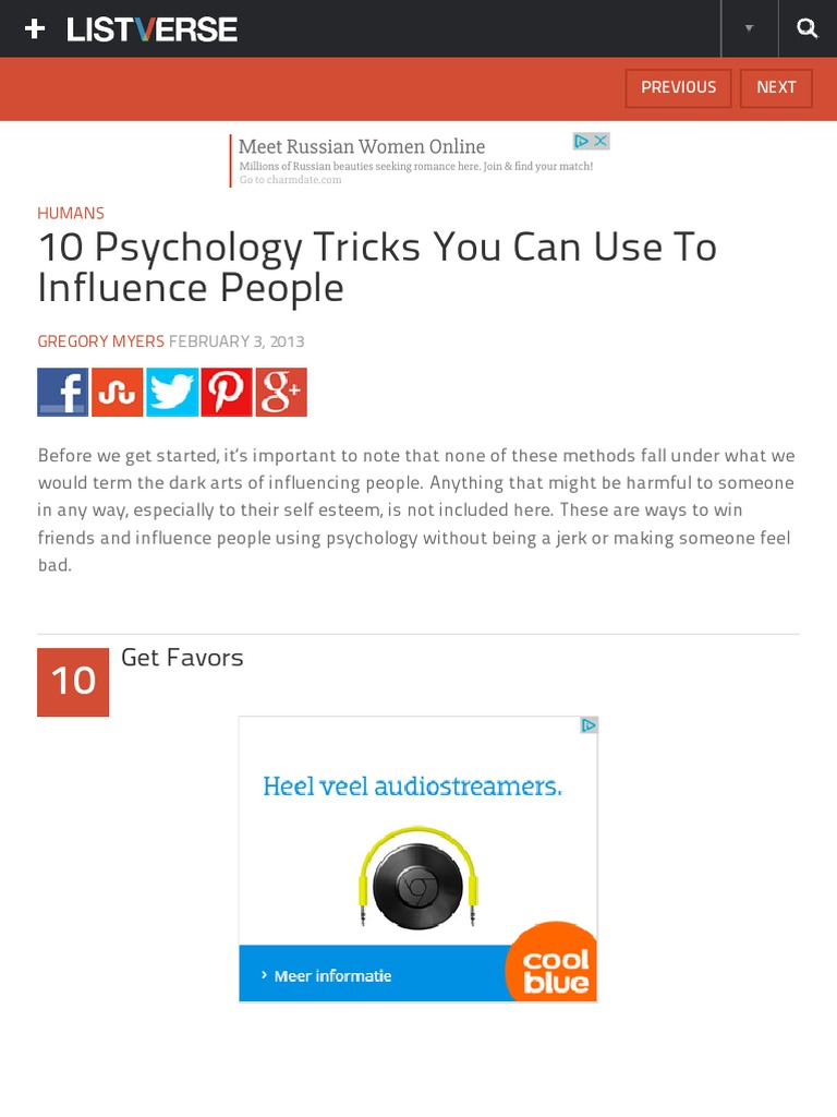 These psychological tricks help to influence people
