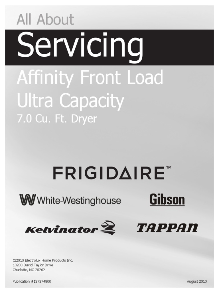 Frigidaire Affinity Dryer Service Manual Clothes Duct Flow Air Schematic