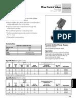 Flow Control 1/4 a 3/4 plg