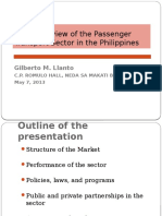Brief Overview of the Passenger Transport Sector in the Philippines-Gilberto M LLanto