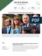 Boletín de noticias KLR 06OCT2016