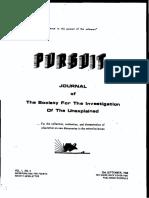 PURSUIT Newsletter No. 4, September 1968 - Ivan T. Sanderson