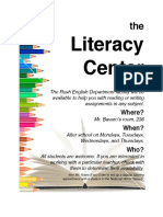 literacy center flyer