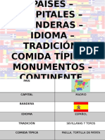 Paises – Capitales – Banderas – Idioma –