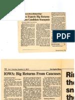 Iowa Caucus Game Coverage