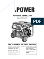A-I Power Generator Manual (SUA12000E)