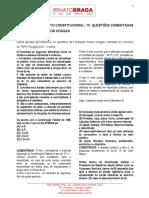 Direito Constitucional - 10 Questões Comentadas