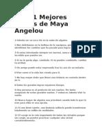 Las 71 Mejores Frases de Maya Angelou
