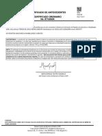 Certificado de Antecedentes Disciplinarios de Teresa de Jesús Moros Maduro