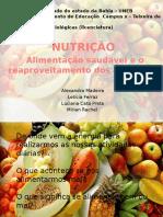 nutrição- apresentação