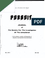 PURSUIT Newsletter No. 7, July 1969 - Ivan T. Sanderson