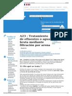 A23 - Tratamiento de Efluentes o Agua Bruta Mediante Filtrac