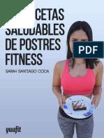 Recetas Saludables de Postres F - Sarah Santiago Coca