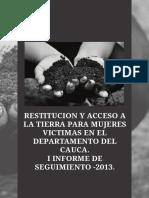 1informe Seguimiento Observatorio Tierras Restitucion Mujeres