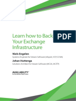 Learn How Backup Your Exchange Infrastructure