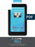 JLab PRO-7 Tablet User Manual
