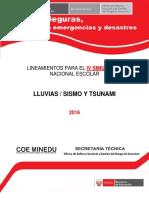 Lineamientos IV Simulacro Nacional Escolar 2016