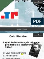 Quiz Littéraire