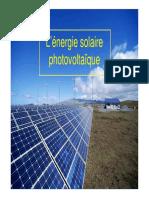 Cours Photovoltaique 2009-2010