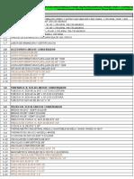Listado de Materiales Recamegas
