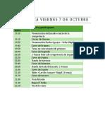 Programa Viernes 7 de Octubre
