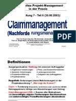 Claim Management