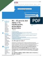 B1 - El Precio Del Agua y Su Tarificación Principios Genera