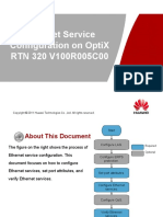 OptiX RTN 320 V100R005C00 Ethernet Service Configuration