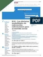 B10 - Las Distintas Modalidades de Subvención- Subvenciones